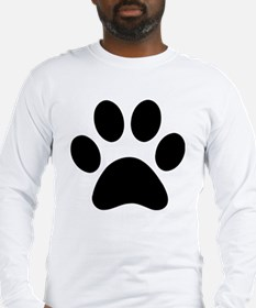 Paw Print Icon Long Sleeve T-Shirt
