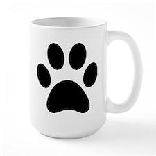 Paw Print Icon Large Mug