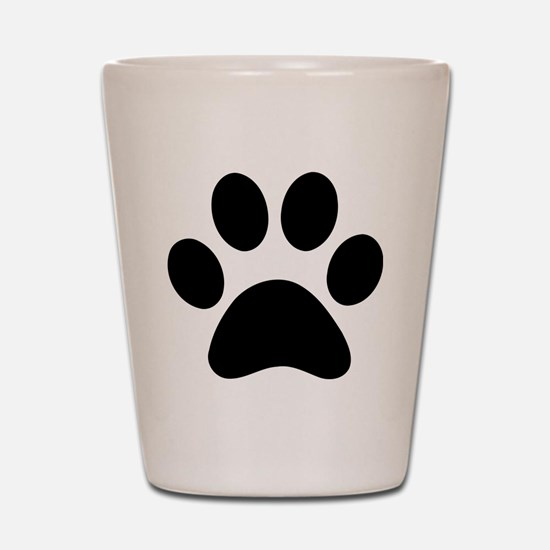 Paw Print Icon Shot Glass