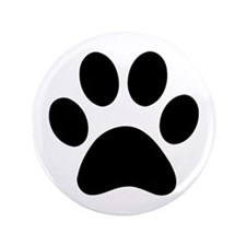 """Paw Print Icon 3.5"""" Button (100 pack)"""