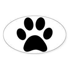 Paw Print Icon Decal