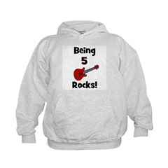 Being 5 Rocks! Guitar Hoodie