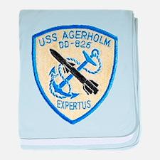 USS AGERHOLM baby blanket