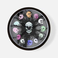 Crystal Skulls Wall Clock