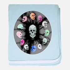 Crystal Skulls baby blanket