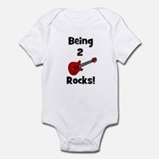 Being 2 Rocks! Guitar Infant Creeper