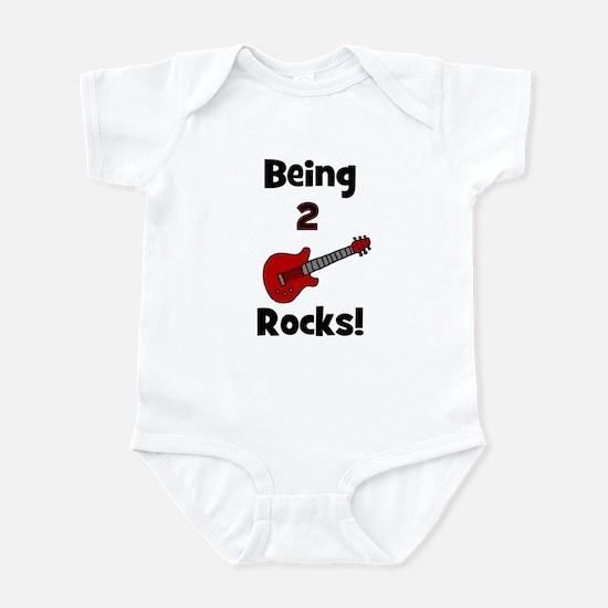 Being 2 Rocks! Guitar Infant Creeper