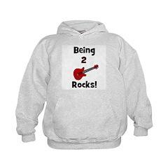 Being 2 Rocks! Guitar Hoodie
