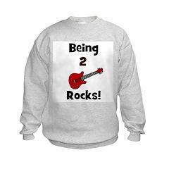 Being 2 Rocks! Guitar Sweatshirt