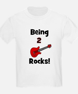 Being 2 Rocks! Guitar Kids T-Shirt