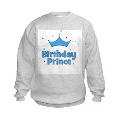 Birthday Prince! w/ Crown Sweatshirt