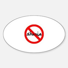 NO JIHAD Sticker (Oval)