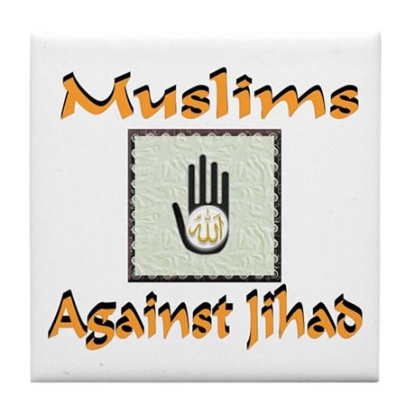NO JIHAD Tile Coaster