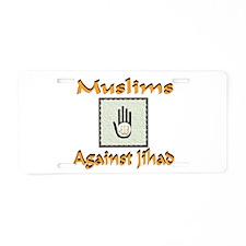 NO JIHAD Aluminum License Plate