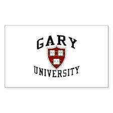 Gary University Rectangle Stickers