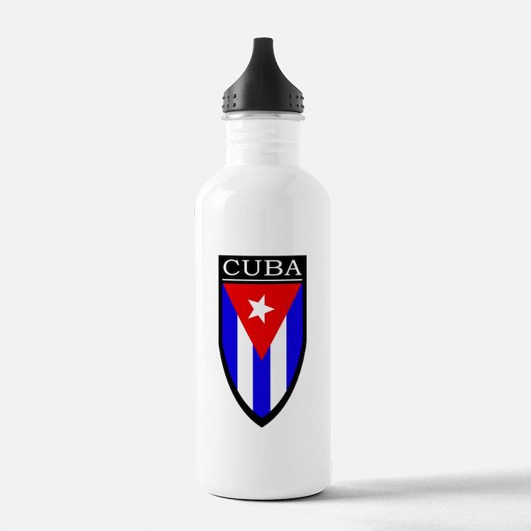 Cuba Patch Water Bottle