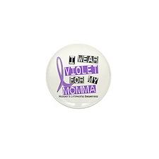 I Wear Violet 37 Hodgkin's Lymphoma Mini Button (1