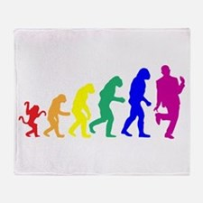 Gay Evolution Throw Blanket