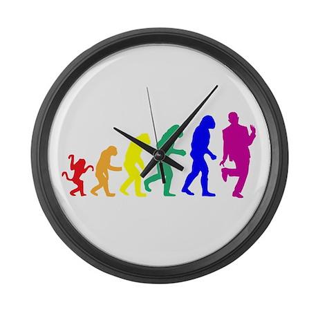 Gay Evolution Large Wall Clock