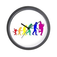 Gay Evolution Wall Clock