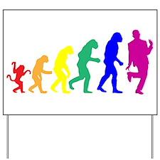 Gay Evolution Yard Sign