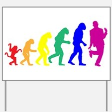 Gay Evolution Yard Sign