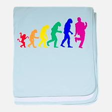 Gay Evolution baby blanket