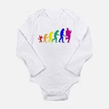 Gay Evolution Long Sleeve Infant Bodysuit