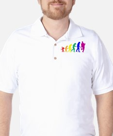 Gay Evolution Golf Shirt