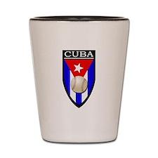 Cuba (Baseball) Patch Shot Glass