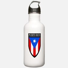 Puerto Rico Patch Water Bottle