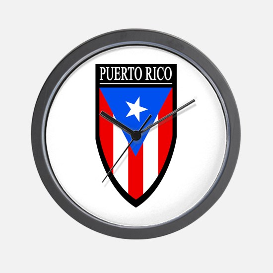Puerto Rico Patch Wall Clock
