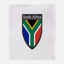South Africa Patch Throw Blanket