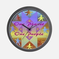 One Planet, One People Wall Clock