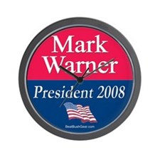 """Mark Warner President"" Wall Clock"