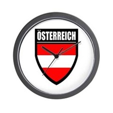 Osterreich Patch Wall Clock