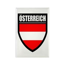 Osterreich Patch Rectangle Magnet