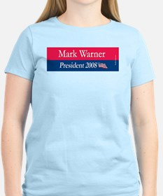 """Mark Warner President"" Women's Pink T-Shirt"