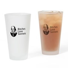 Bitches love sonnets Pint Glass