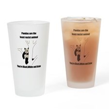 racist pandas Pint Glass