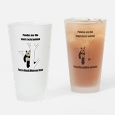 racist pandas Pint Glass