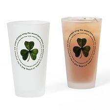 Irish drinking song Pint Glass