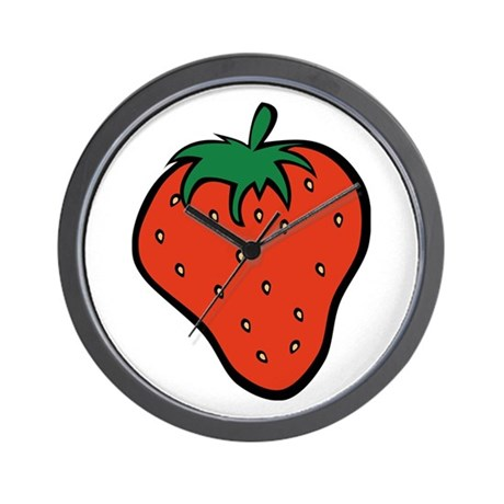 Strawberry Icon Wall Clock