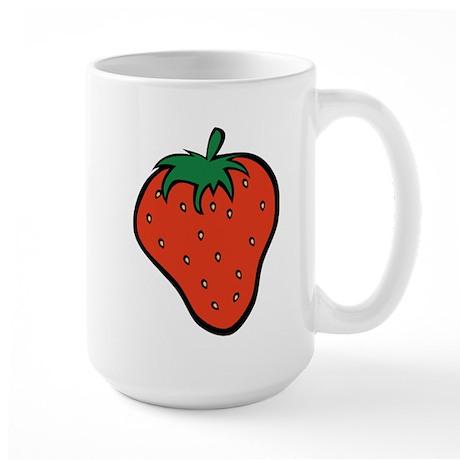 Strawberry Icon Large Mug