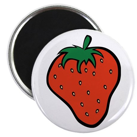 """Strawberry Icon 2.25"""" Magnet (10 pack)"""