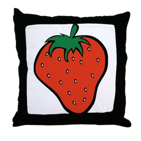 Strawberry Icon Throw Pillow