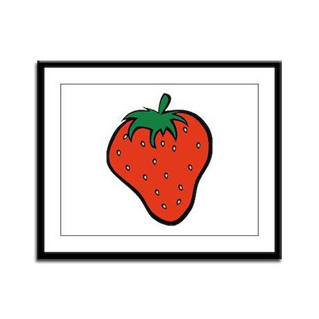 Strawberry Icon Framed Panel Print