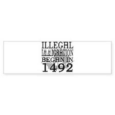1492 Bumper Bumper Sticker