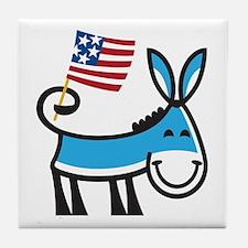 Democrat Donkey Tile Coaster