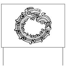 Aztec Ouroboros Symbol Yard Sign